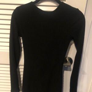 Aritzia Community long sleeve low back dress
